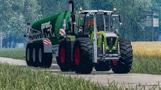 getlinkyoutube.com-Farming Simulator 2015 - Claas Xerion 3800 VC Manure Spreading