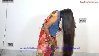 Super Silky Shiny Knee Length Long Hair of Sejal