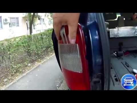 How to change a light bulb taillight CHRYSLER VOYAGER как поменять лампочку задней фары