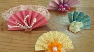Mini Fans Tutorial - Part 1 (paper fans)