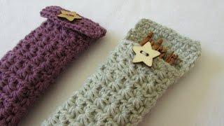 getlinkyoutube.com-How to crochet a star stitch crochet hook case / holder