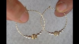 getlinkyoutube.com-Elegant HOOP EARRINGS