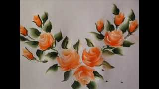 getlinkyoutube.com-Rose buds painting with fevicryl acrylic colours tutorial 9