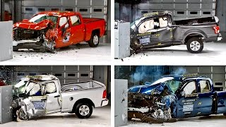 getlinkyoutube.com-Crash Tests 2016 Pickup Truck - F-150, Silverado, Tundra, Ram