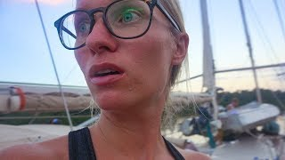 Sailing into a NIGHT SQUALL!!!!  Life in the ITC ZED-  Sailing Vessel Delos Ep. 193 width=