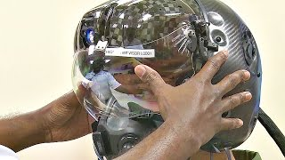 getlinkyoutube.com-This $400,000 F-35 Helmet Can Let Pilot See Through Plane - Test Fit