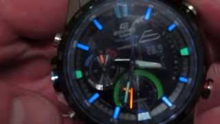 getlinkyoutube.com-Casio EDIFICE ERA-300DB NEON ILLUMINATOR (HD)
