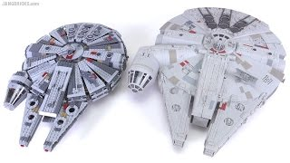 getlinkyoutube.com-LEGO vs. Hasbro! Star Wars TFA Millennium Falcon comparison