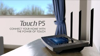 getlinkyoutube.com-TP-Link AC1900 Touchscreen Wi-Fi Gigabit Router (Touch P5)