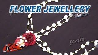 getlinkyoutube.com-DIY Fresh Flower Wedding hair accessories | Maang Tikkas | How to make | JK Arts 233