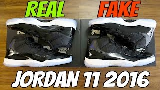 HOW TO: Tell If Your 2016 Jordan 11 Space Jams are REAL or FAKE! (Crazy Comparison)