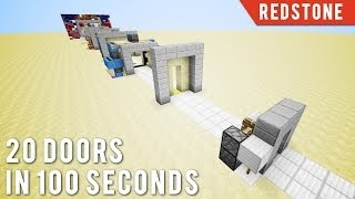 getlinkyoutube.com-Minecraft: 20 Doors In 100 Seconds