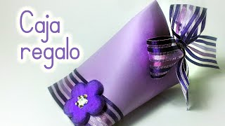 getlinkyoutube.com-Manualidades: CAJA para REGALO reciclando un rollo de papel higiénico - Innova Manualidades
