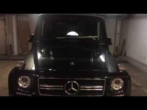 Установка зеркал и реализация складывания со штатного ключа на Mercedes G 463