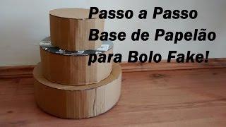 getlinkyoutube.com-Passo a Passo Base de Papelão Para Bolo Fake /Por Carla Oliveira