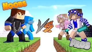 PRO'S VS THE NOOBS - BED Wars Sharky Minecraft Adventures