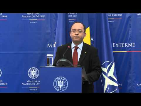 Declaraţie de presă a ministrului Bogdan Aurescu la preluarea mandatului