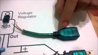 getlinkyoutube.com-إبتكار شاحن USB  إذا إنقطعت الكهرباء Power Bank
