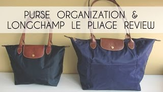 getlinkyoutube.com-Purse Organization (Longchamp Le Pliage Review) & What's In My Bag Tag