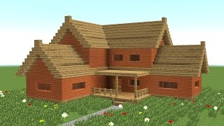 getlinkyoutube.com-MINECRAFT: How to build big wooden house #3