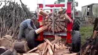 getlinkyoutube.com-Machine incroyable pour couper le bois!