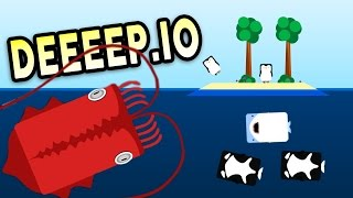 THE UNSTOPPABLE GIANT SQUID! - Deeeep.io Gameplay