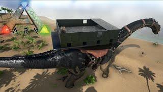 getlinkyoutube.com-Una Casa Encima De Mi Dinosaurio !! WTF ! - ARK Survival Evolved