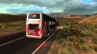 getlinkyoutube.com-American Truck Simulator Bus trip to Elko with Comil Campione 6x2 Volvo