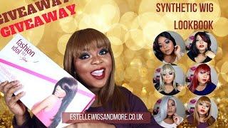 getlinkyoutube.com-Synthetic Wig Look Book| U.K Edition| Open International GIVEAWAY| Medeaij