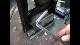 getlinkyoutube.com-Making Of a DIY Mini Press Brake (Metal Bender)