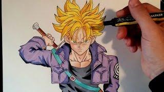 getlinkyoutube.com-Cómo dibujar a Trunks del futuro SSJ | How to draw Future Trunks SSJ | ArteMaster