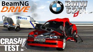 getlinkyoutube.com-BeamNG Drive BMW 525i Drift Crash Test