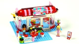 getlinkyoutube.com-Lego Friends 3061 City Park Café Speed Build And Review