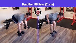 Bent Over Row (DB Double Arm)