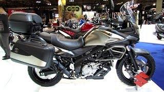 getlinkyoutube.com-2014 Suzuki V-Strom 650 ABS Walkaround - 2013 EICMA Milan Motorcycle Exibition