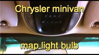 getlinkyoutube.com-2001-2007 Dodge Grand Caravan/Chrysler Town and Country map light bulb
