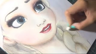 getlinkyoutube.com-Speed Drawing: Elsa (Frozen) | Diana Diaz