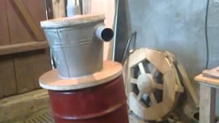 Самодельный стружкоотсос-циклон для мастерской