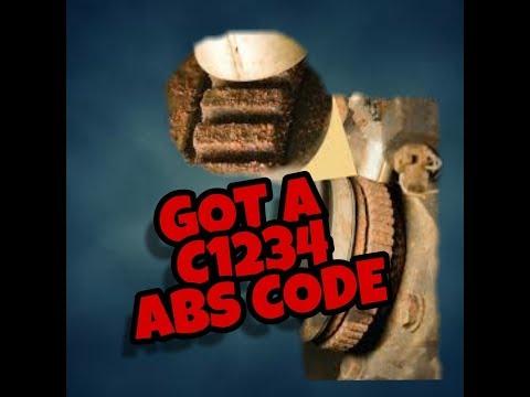 Got A C1234 ABS Code Today - Nice FIx!
