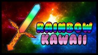 getlinkyoutube.com-MINECRAFT PVP TEXTURE PACK - RAINBOW KAWAII FAITHFUL 1.7.X/1.8.X