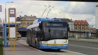 getlinkyoutube.com-Ostrava Trolleybus Ride Route 105 Karolina U Lávky to Žižkova