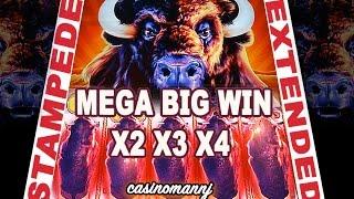 "getlinkyoutube.com-**STAMPEDE EXTENDED!"" - MEGA BIG WIN! - (Casinomannj) - Slot Machine Bonus"