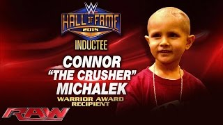 getlinkyoutube.com-Connor Michalek to receive first-ever Warrior Award at 2015 WWE Hall of Fame: Raw, March 9, 2015