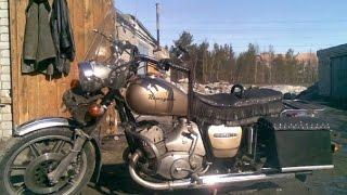 getlinkyoutube.com-Запуск мотоцикла Иж-Юпитер 3 (стоял 4,5 года без движения)