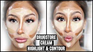 """getlinkyoutube.com-Drugstore Cream Contour & Highlight """"Baking"""""""
