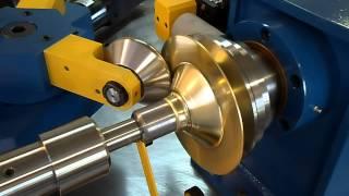 Spinning a Brass Lamp Top