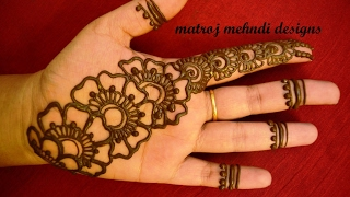 getlinkyoutube.com-simple easy mehndi designs for hands   mehndi designs for hands for begineers