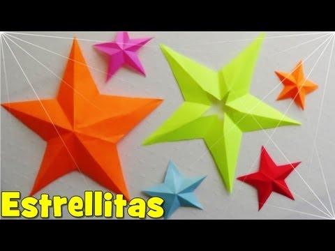 Como hacer estrellas de papel infladas imagui - Origami de una estrella ...