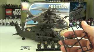 getlinkyoutube.com-Oxford Military Chopper + Cannon Set OM3303 Review, Lego Compatible With Brickarms