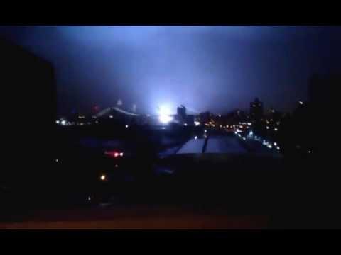 Huracán Hurricane Sandy   , explosión apagón eléctrico de Nueva York